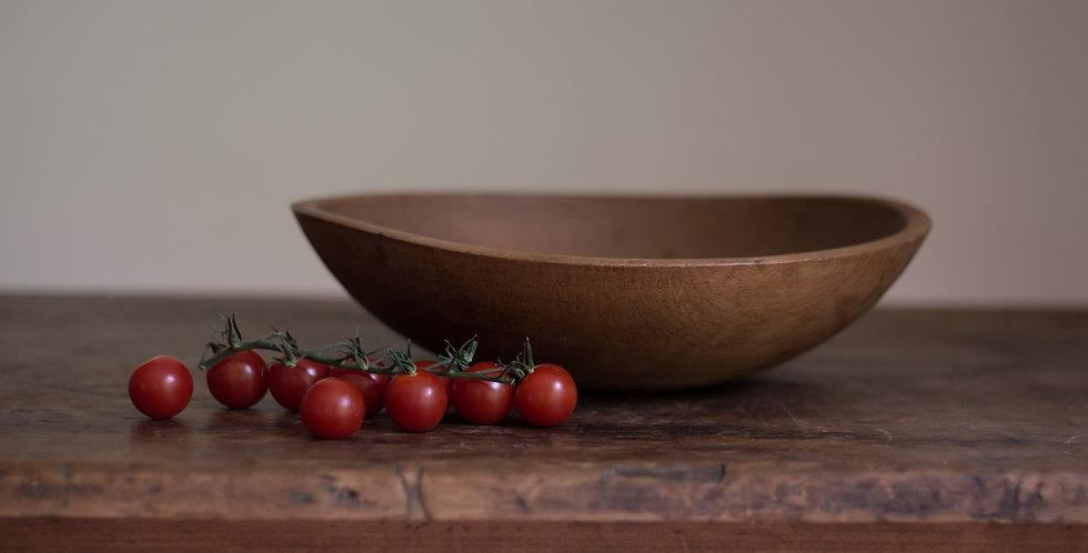 vintage wooden dough bowl