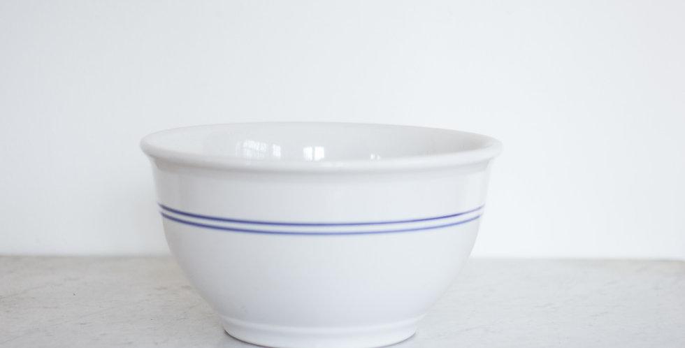 vintage striped ceramic bowl