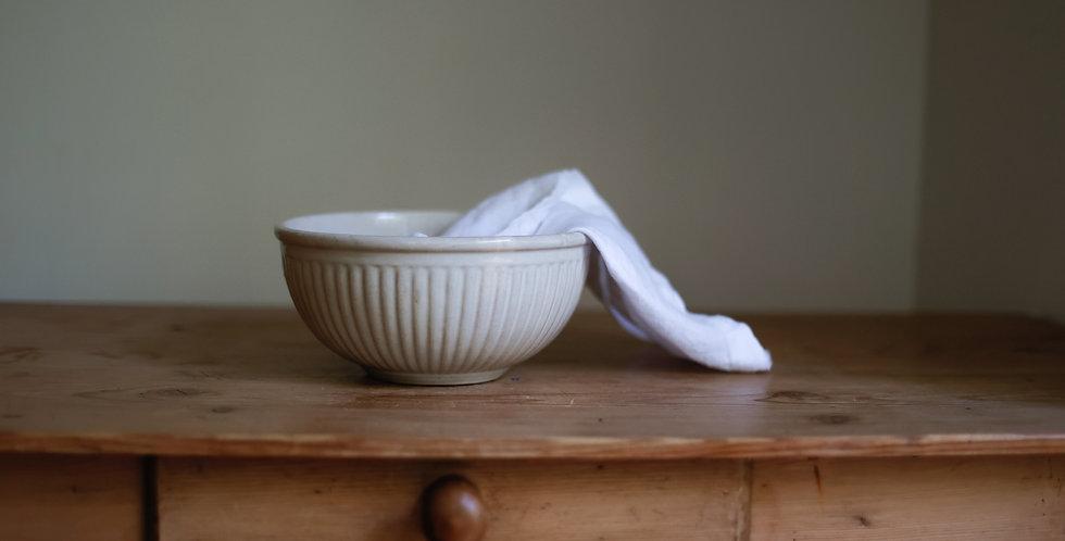 antique stoneware bowl