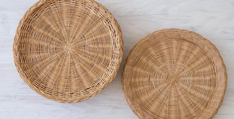 woven plate basket set of 6