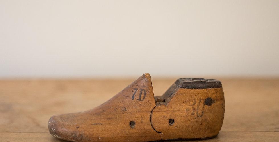 vintage wooden shoe mold