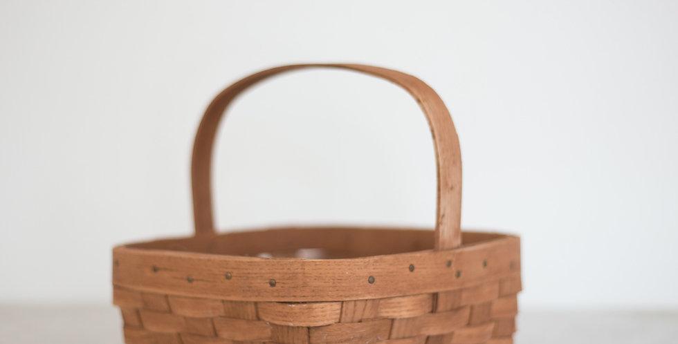 handwoven gathering basket