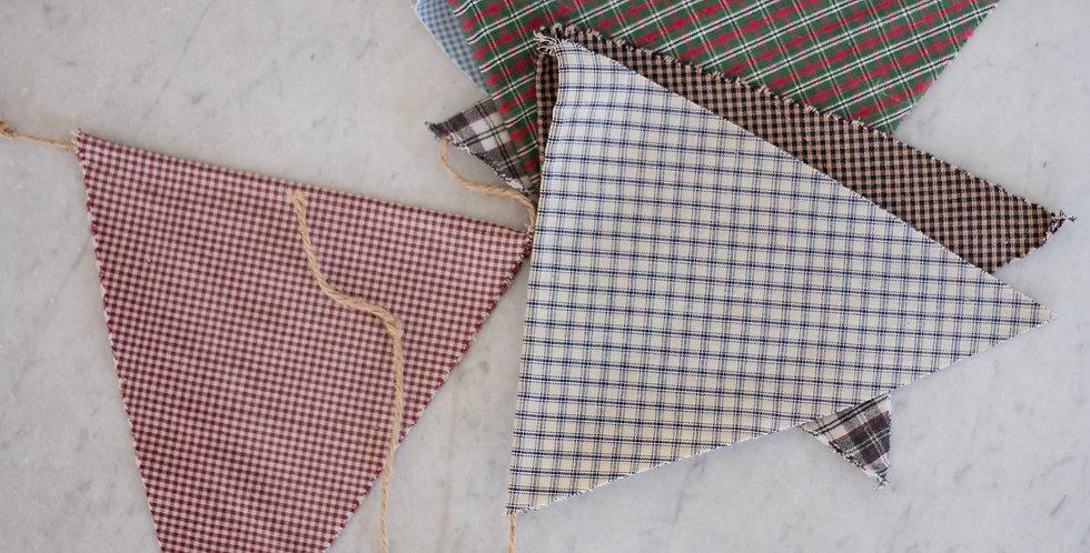 vintage primitive fabric bunting