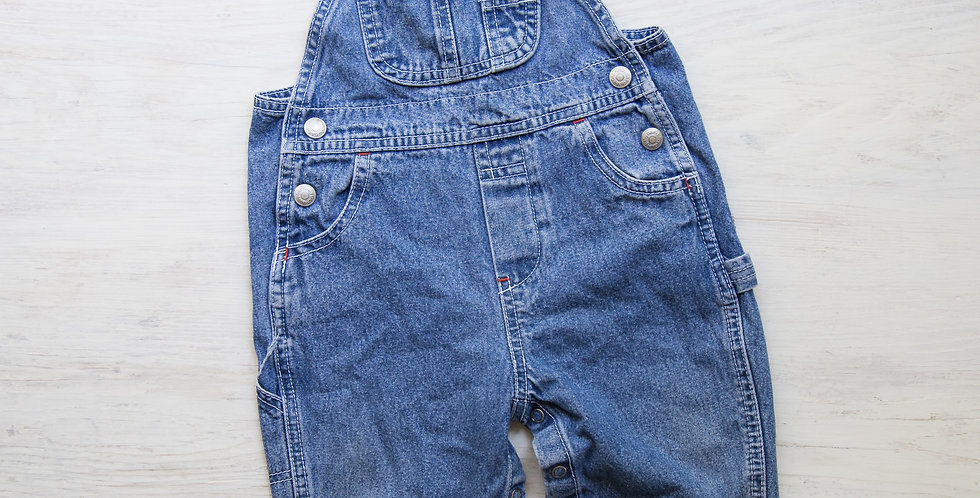 vintage faded glory overalls   12 mo.