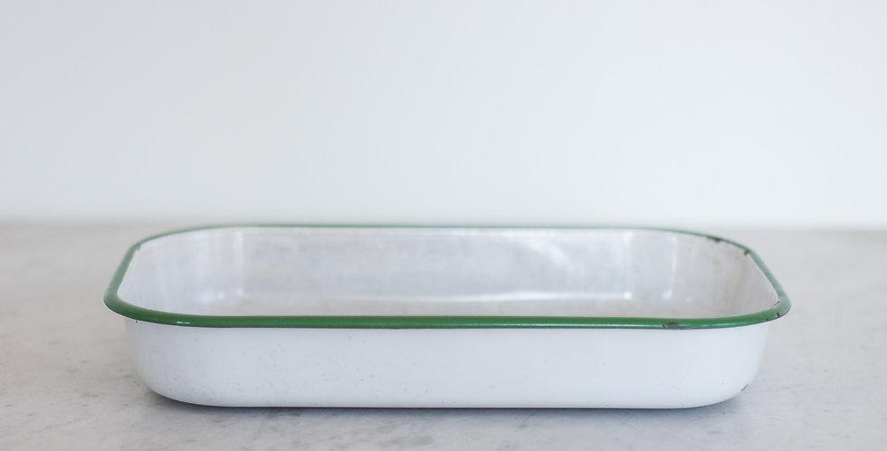 vintage enamel tray