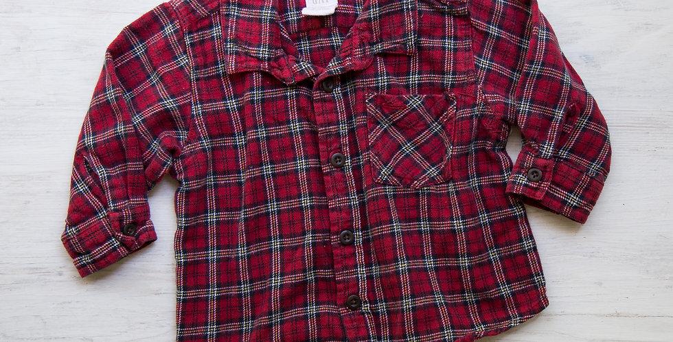 vintage plaid Gap shirt  | 12-18 mo