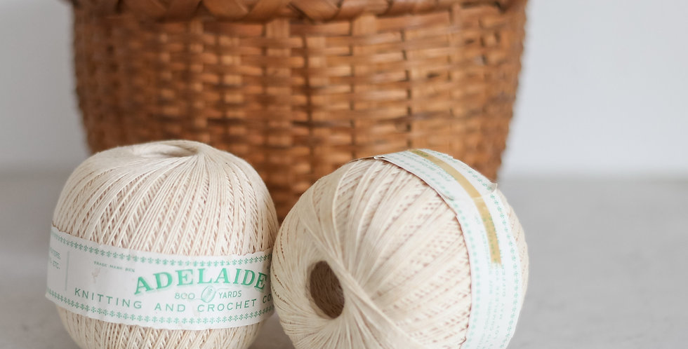 vintage French twine set of 2