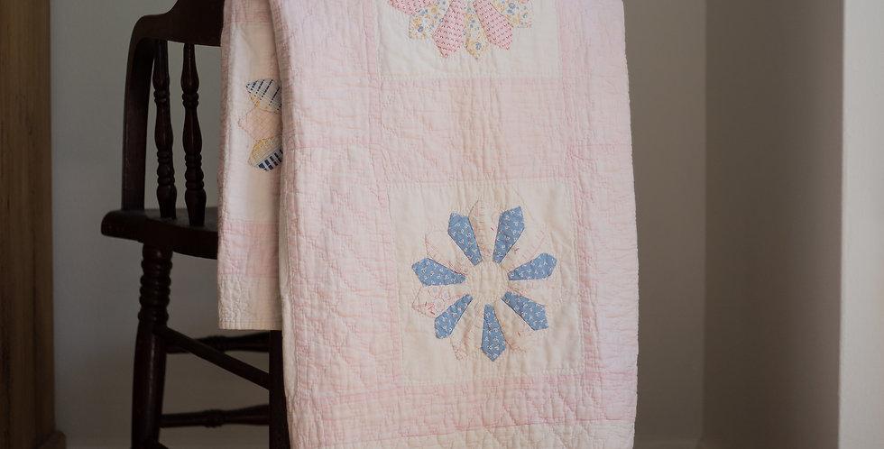 vintage flower hand stitched quilt