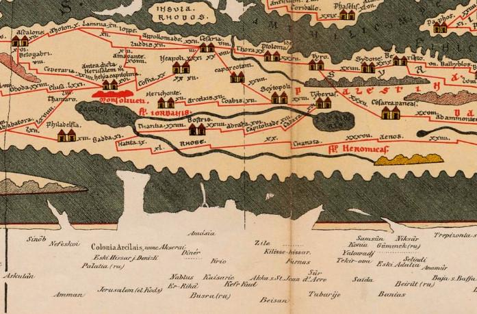 "Peutinger map or ""table"" (Tabula Peutingeriana)"