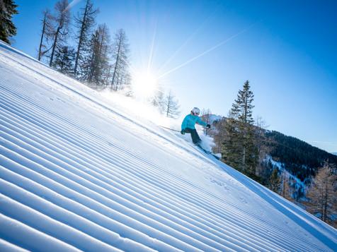 Werbefotografie zum Thema Skifahren