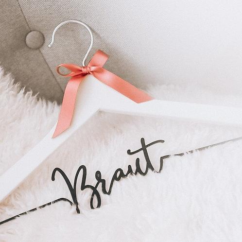 Kleiderbügel » Wunschtext « | Acrylschrift
