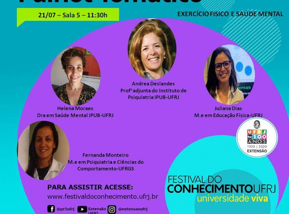 Festival do Conhecimento UFRJ (21/07)