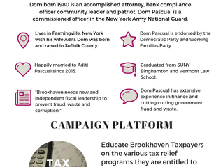 Dom Pascual, Candidate for Brookhaven Receiver of Taxes (Part 1)