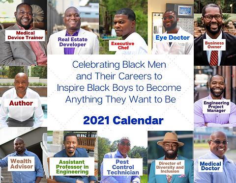 2021 Black Men Calendar - Boys