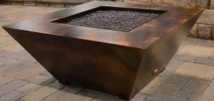 Parallax Square: Polymer Fire Pit