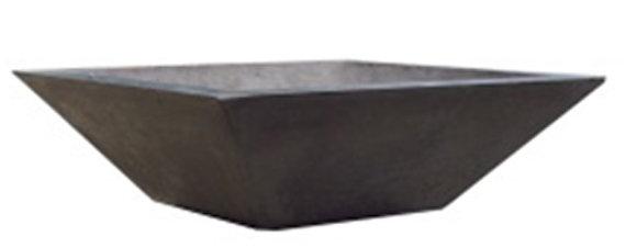 "Square Wok: Concrete Bowl - 38"" Wood Burning"