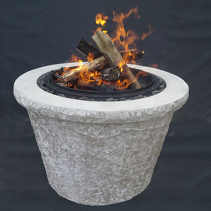 """Round Stone: Fire Bowl - 38"""" (Complete Bowl)"""