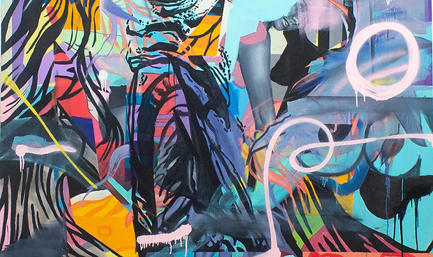 'Twerking in the lazy woods' 66x66inch,