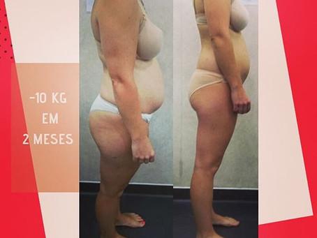 Recuperação pós-parto, com perda de 15 kg