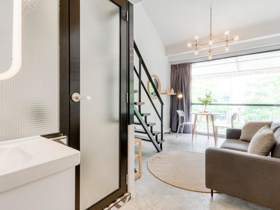 Muted & bright studio apartments