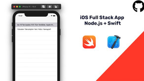 iOS'te Full Stack App (Node.js +Swift)
