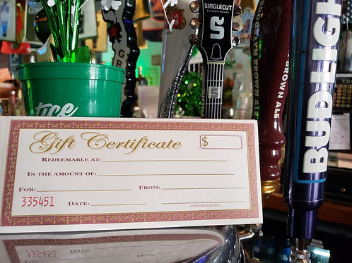 Shillelagh Tavern Gift Certificate $75