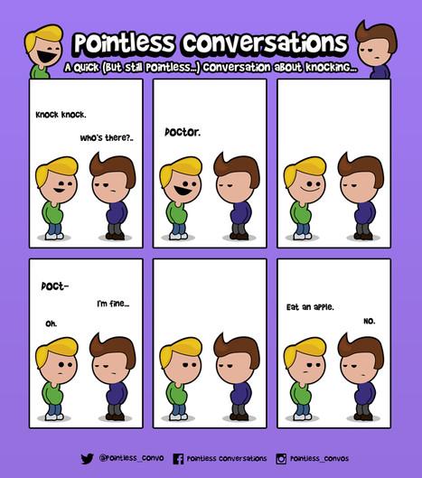 Pointless Conversations cartoon