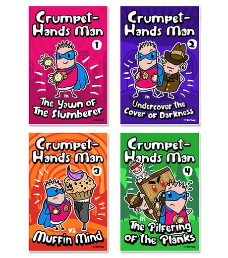 Crumpet-Hands Man ebook Covers