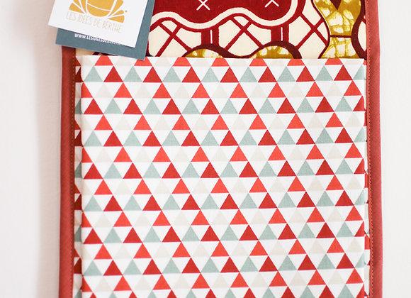 Vide poche mural en tissu, 30x20 cm, pièce unique