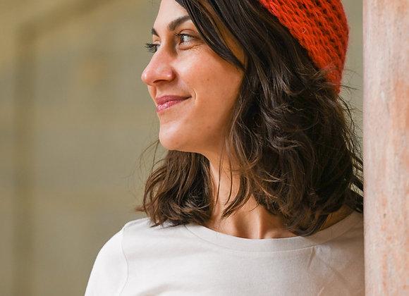 Bandeau 100% laine, tricoté main, taille unique