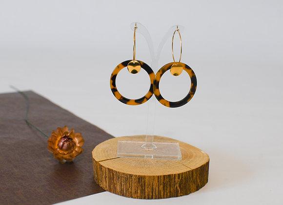Boucles d'oreilles pièce unique, en acier inoxydable, 55mm