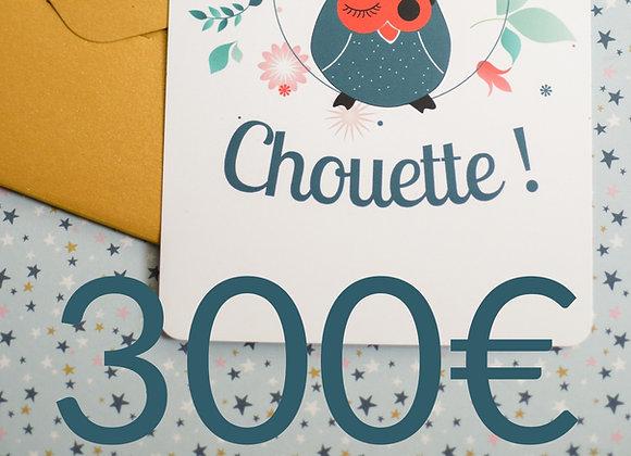Carte Cadeau à valoir chez Chouette ! 4 rue du Chapitre à Rennes (valable 1 an)