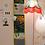 Thumbnail: Vide poche mural 3 poches vertical en tissu, 90x20 cm, pièce unique
