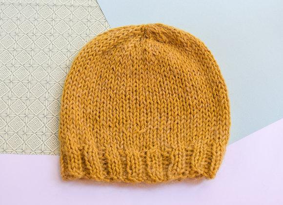Bonnet tricoté avec amour, alpaga, mohaire et soie, taille unique