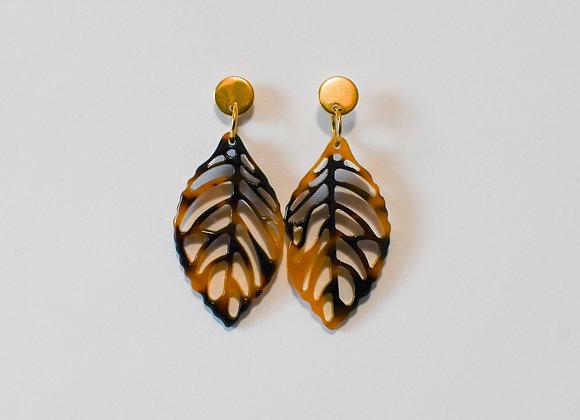 Boucles d'oreilles pièce unique, en acier inoxydable doré, 51mm