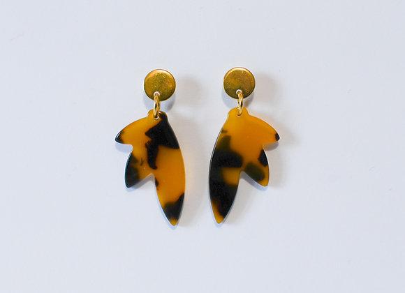 Boucles d'oreilles pièce unique, en acier inoxydable doré, 39mm