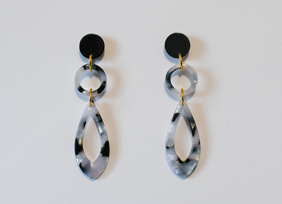 Boucles d'oreilles pièce unique en acier inoxydable doré, 65mm