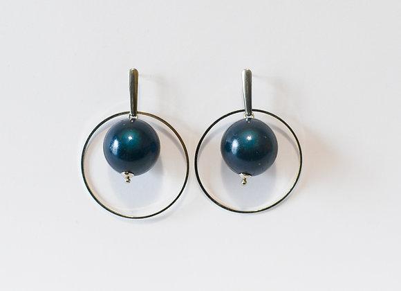 """Boucles d'oreilles """"Pleine lune"""", pièces uniques, 47mm"""