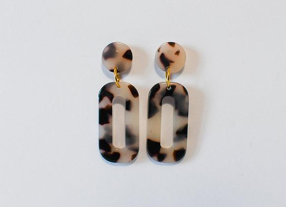 Boucles d'oreilles pièce unique, en acier inoxydable doré, 45mm