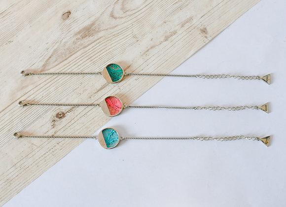 """Bracelets """"Lune en dentelle"""" plaqués au palladium, pièces uniques, 20cm"""