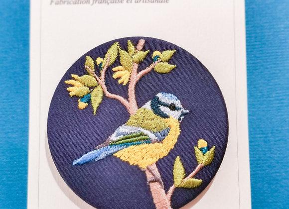 """Broches brodées """"Oiseaux"""", grand modèle"""