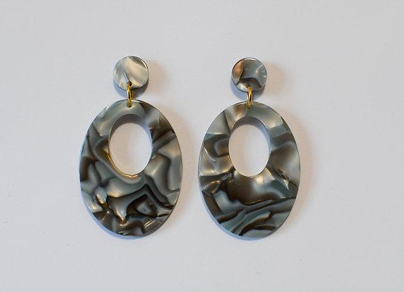 Boucles d'oreilles pièce unique en acier inoxydable doré, 59mm
