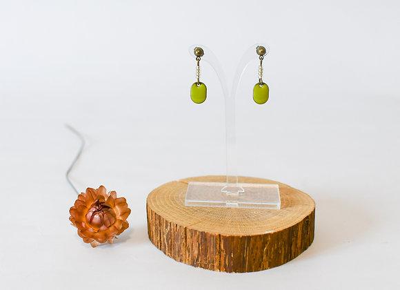 Boucles d'oreilles pièce unique, en laiton, 18mm