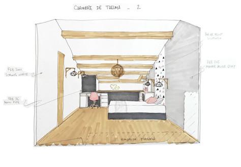 Aménagement de 2 chambres sous les combles
