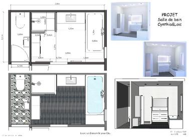 Plan rénovation salle de bain