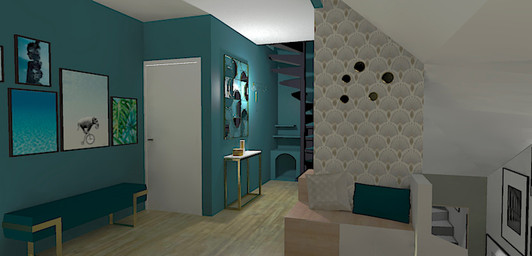 Visualisation 3D entrée appartement