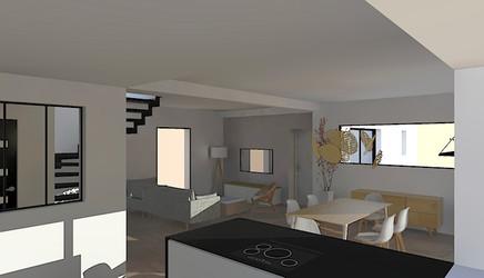 Visualisation 3D cuisine ouverte