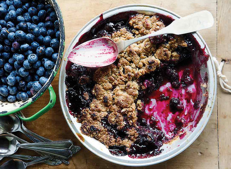 Kirsten's Blueberry Crumble (Low Sugar and Wheat Free)
