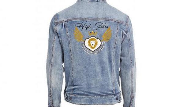 HS Vintage Denim Logo Jacket