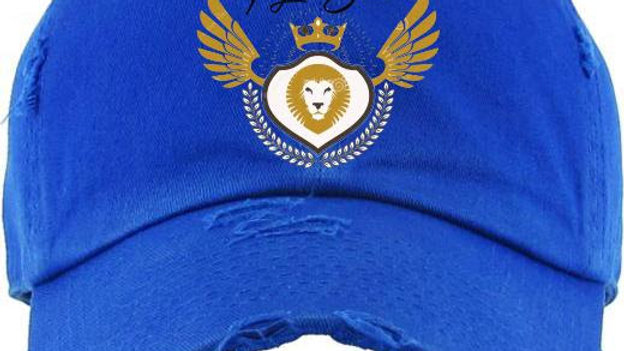 Distressed Logo Hat Blue